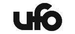 Ufo grå logotyp